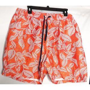 Relax tommy bahama orange blue board shorts xl